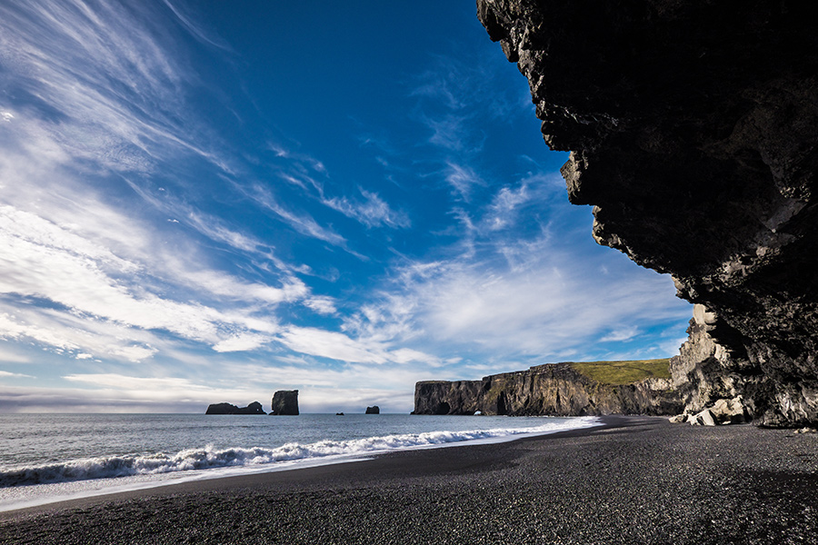The basalt formations around Reynisfjara are an inspiration for much of Iceland's unusual architecture.