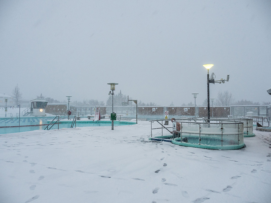 Iceland's pools, like Vesturbæjarlaug (pictured here), are a popular pastime in the winter.